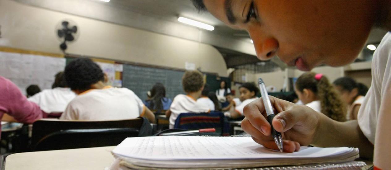 Metas ambiciosas: novo plano prevê aumento nos investimentos em ensino básico e médio Foto: Márcia Foletto