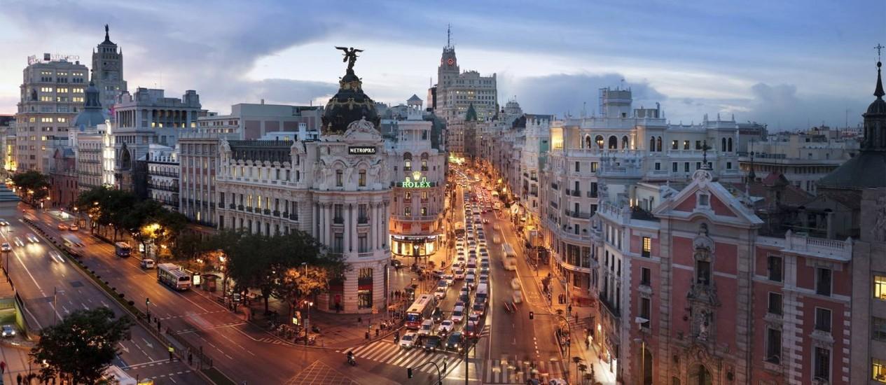Madri ocupa o quarto lugar na lista de cidades mais atrativas para profissionais recém-formados Foto: Divulgação