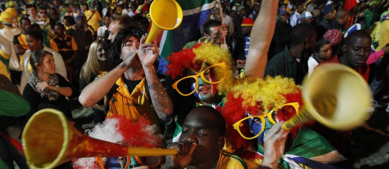 Vuvuzelas foram o som da Copa de 2010 Foto: AP