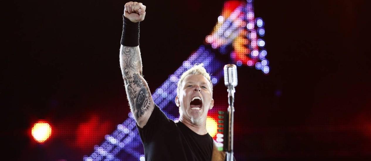 Show da banda Metallica no Rock in Rio 2013. Foto: Leonardo Aversa / Agência O Globo