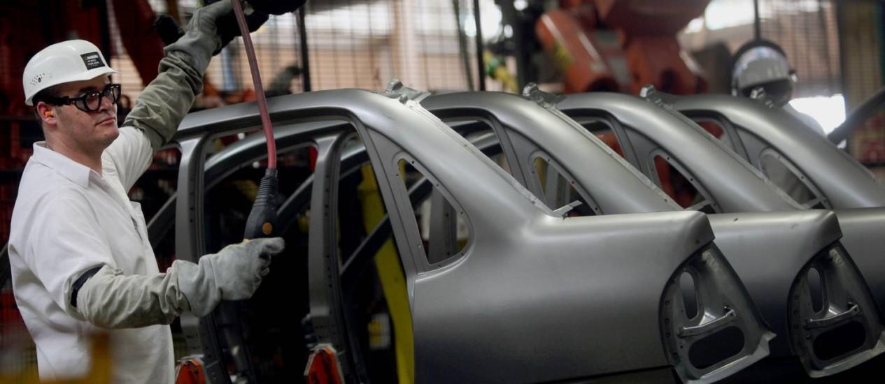 Fábrica da GM em São Caetano: setor produziu 282,5 mil carros, comerciais leves, caminhões e ônibus no mês passado Foto: Dado Galdieri / 24/10/12 / Bloomberg