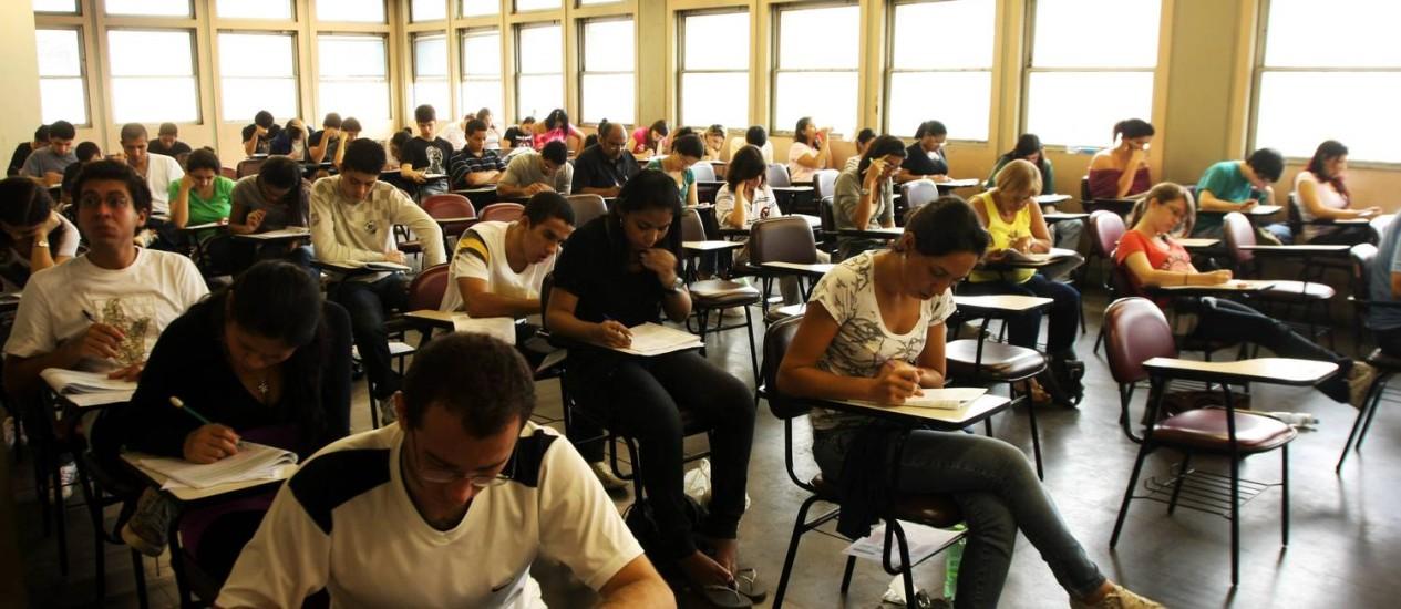 Para fazer uma boa prova, os candidatos devem evitar o estresse e relaxar na véspera Foto: Ângelo Antônio Duarte
