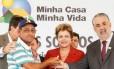 Dilma durante evento no qual deu declaração que, de acordo com TSE, não configura propaganda antecipada.