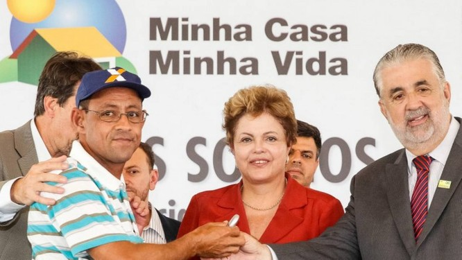 Dilma durante evento no qual deu declaração que, de acordo com TSE, não configura propaganda antecipada. Foto: Divulgação / Palácio do Planalto