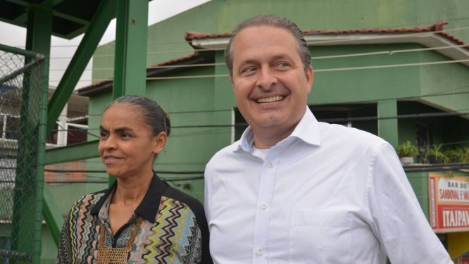 Encruzilhada. Em São Paulo, PSB de Campos e Rede, liderada por Marina, devem tomar caminhos distintos Foto: ERBS Jr/Frame