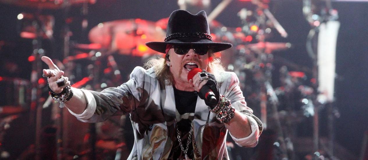 Axl Rose em show dos Guns N' Roses no Rock in Rio 2011 Foto: Agência O Globo