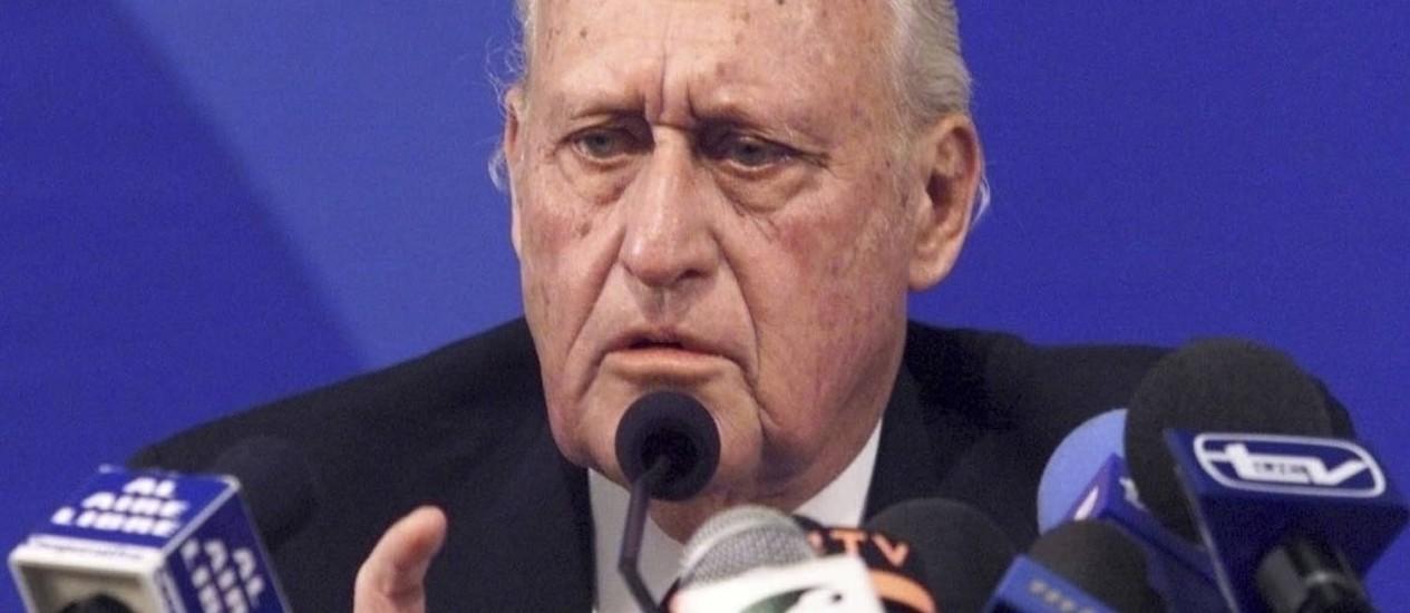O ex-atleta e dirigente João Havelage foi presidente da Fifa durante 24 anos Foto: Oleg Popov / Reuters