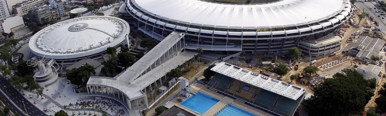 Vista aérea do estádio Mário Filho, o Maracanã, que será o palco do jogo da final da Copa do Mundo Foto: Cezar Loureiro / Agência O Globo