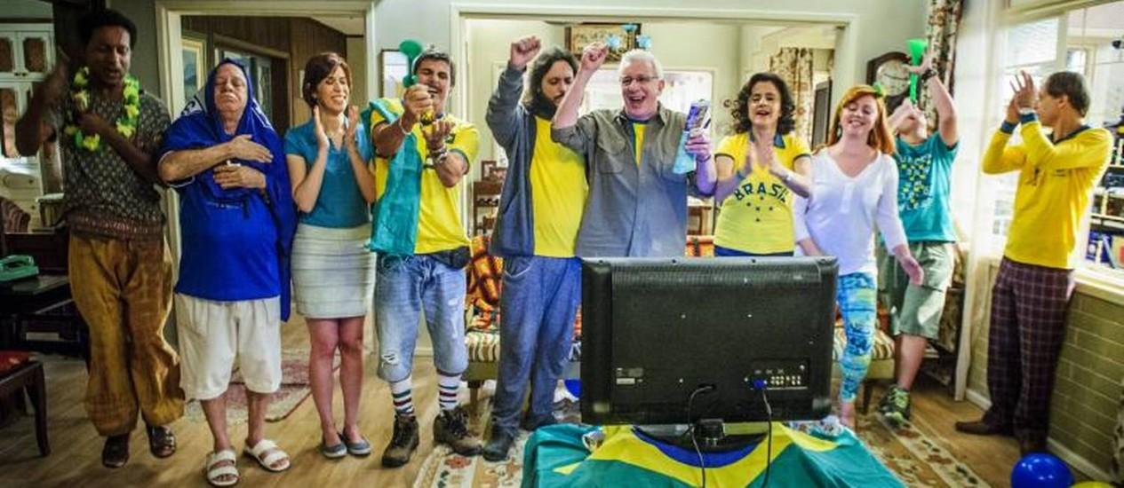 Episódio de 'A grande família' terá flashbacks de copas anteriores Foto: GLOBO/Alex Carvalho