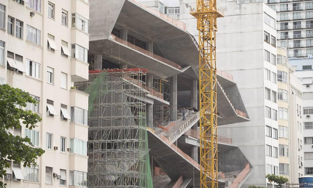 Dividido em sete pavimentos, projeto tem previsão para ser concluído no fim deste ano Foto: Márcia Foletto / Agência O Globo