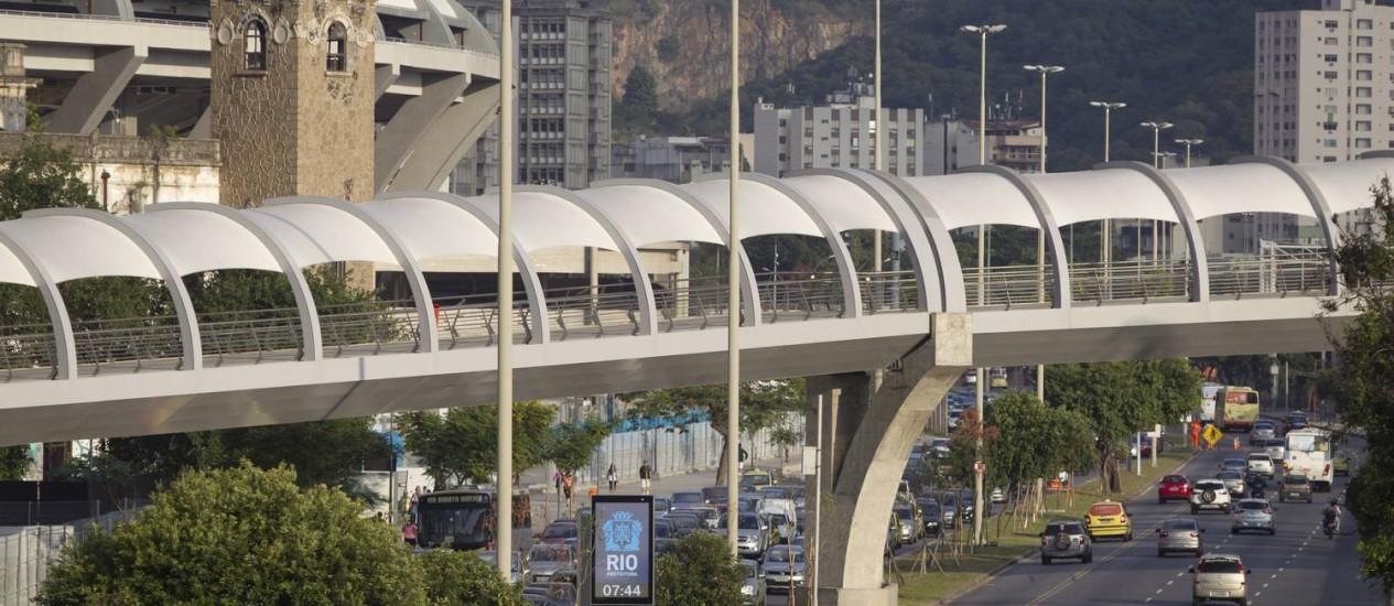 Obra ligando o Maracanã a São Cristóvão custou R$ 109,5 milhões Foto: Márcia Foletto / Agência O Globo