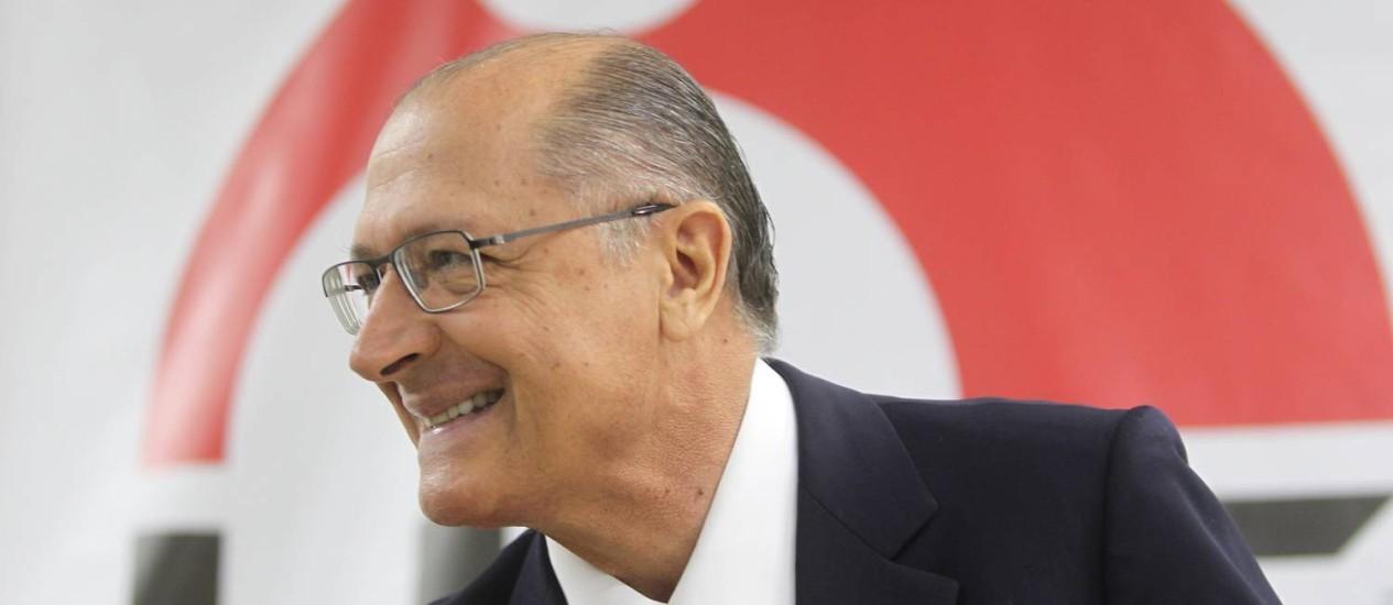 Governador de São Paulo Geraldo Alckmin (PSDB) Foto: Marcos Alves / O Globo