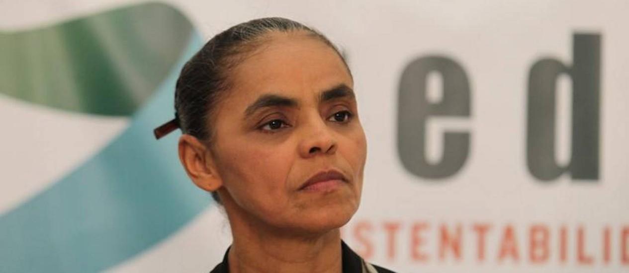 Ex-senadora Marina Silva Foto: O Globo