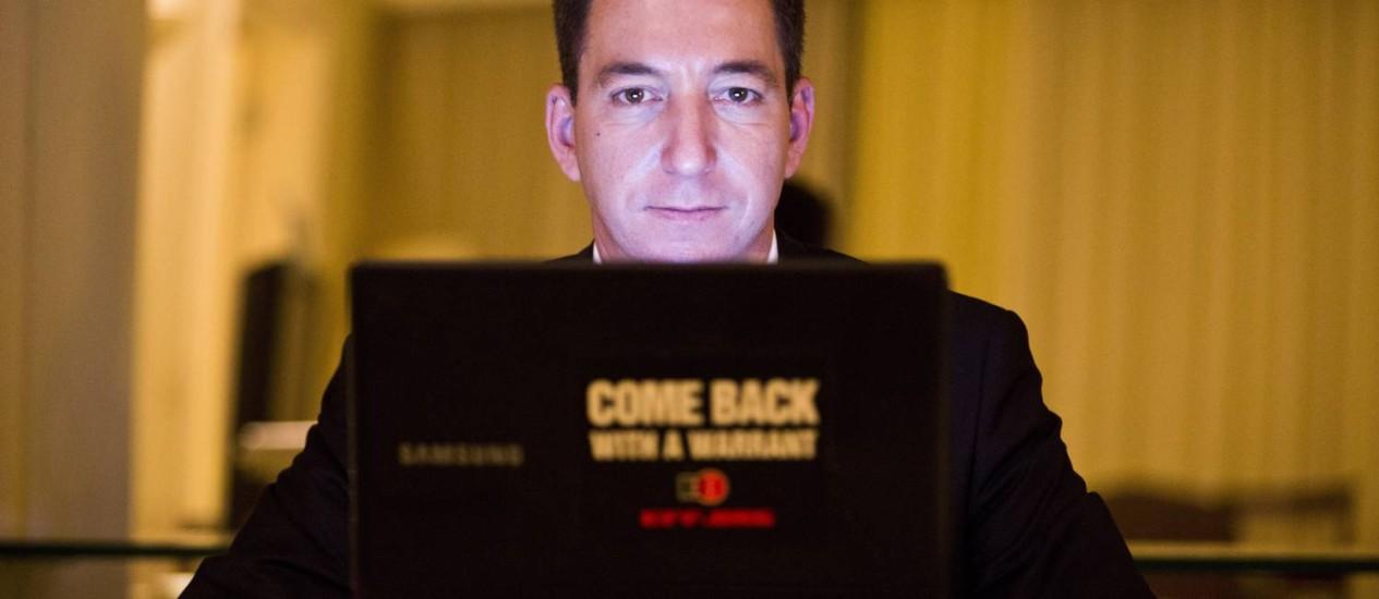 Glenn Greenwald lança livro sobre o vazamento de informações da NSA Foto: Fabio Seixo / Agência O Globo