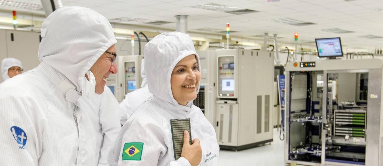 Presidente Dilma Rousseff visita fábrica em São Leopoldo Foto: Roberto Stuckert Filho / Presidência da República