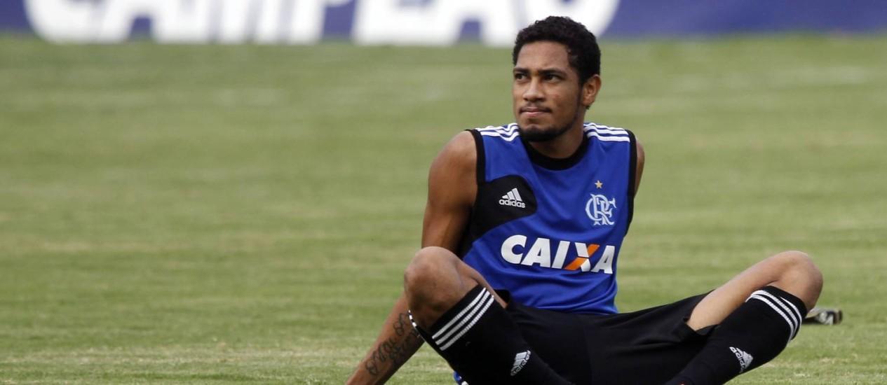 Hernane, o Brocador, virou ídolo rubro-negro com as atuações na temporada passada Foto: Gustavo Miranda / Agência O Globo