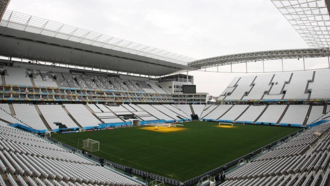 Panorama da parte interna do Itaquerão Foto: Michel Filho / O Globo