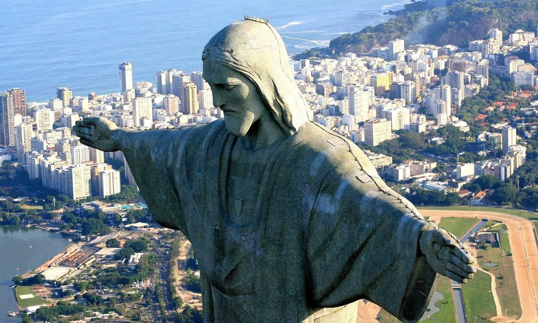 08.05.2007 - Ivo Gonzalez - ri - Cristo Redentor e as Eleições para as novas 7 maravilhas mundias. Foto: Ivo Gonzalez