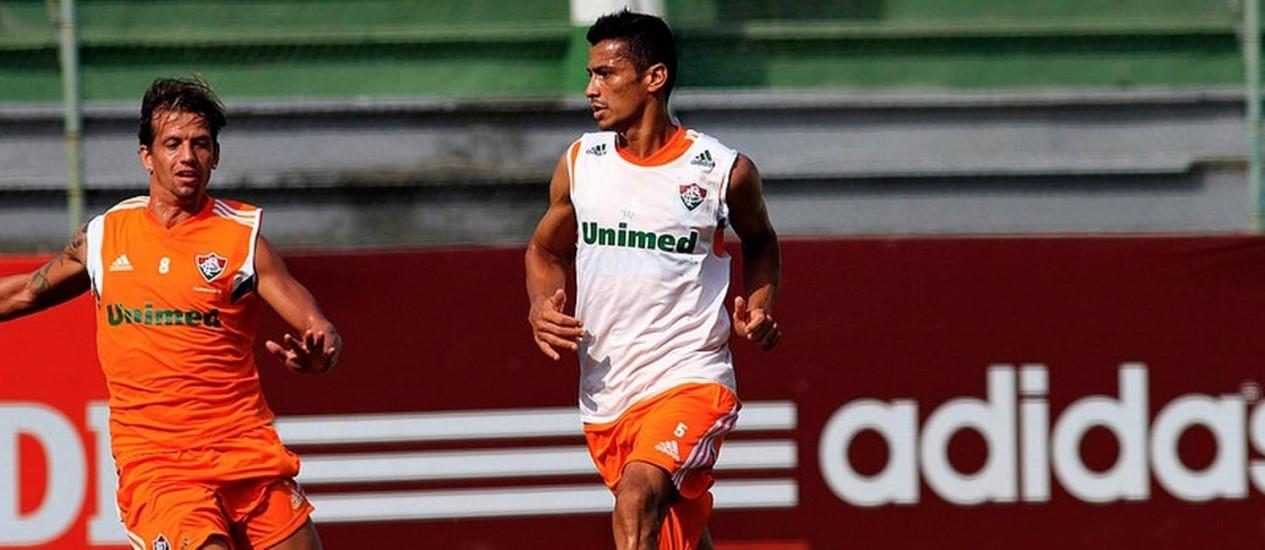 Cícero treinou neste sábado pela primeira vez após o retorno ao Fluminense Foto: Divulgação/Nelson Perez