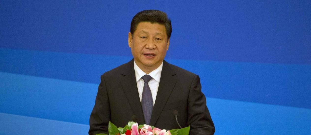 Agenda. O presidente Xi Jinping fará um discurso no Congresso Nacional Foto: Han Guan/REUTERS
