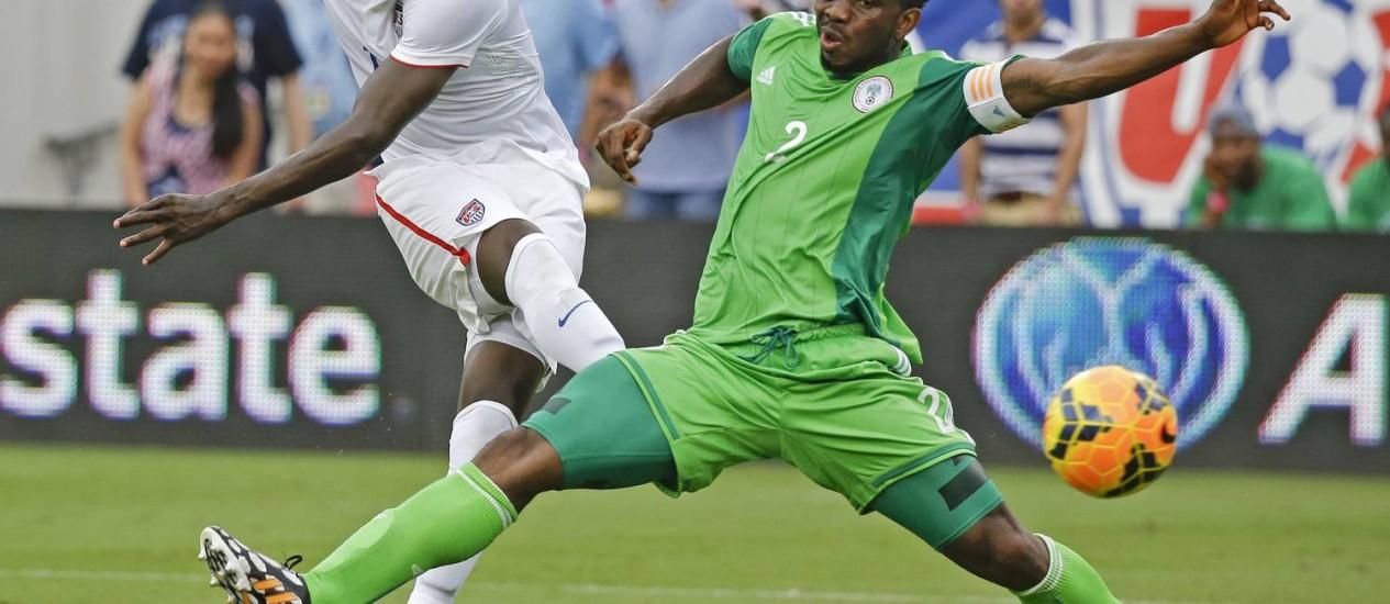 Altidore, atacante dos Estados Unidos, marcou os dois gols da vitória dos americanos sobre a Nigéria Foto: John Raoux / AP