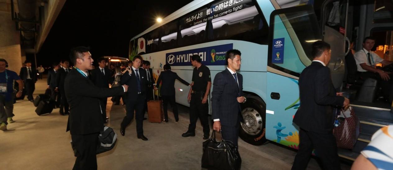 Delegação do Japão no desembarque em Campinas Foto: Divulgação / Aeroporto de Viracopos