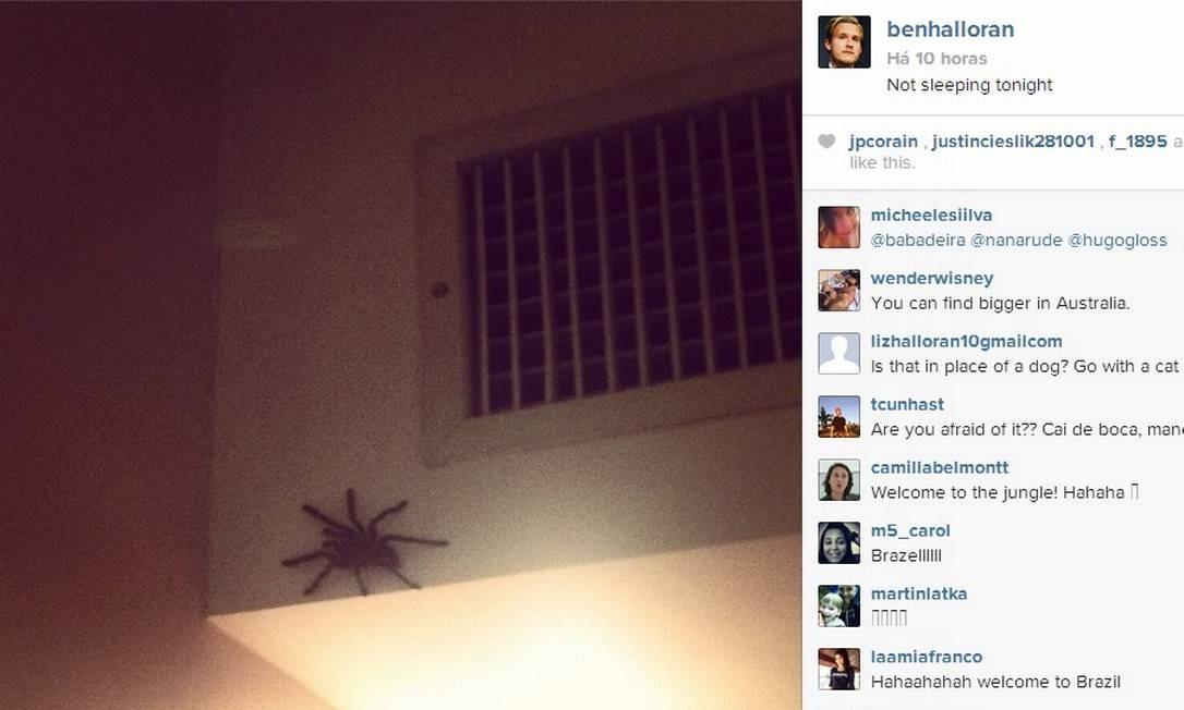 Instagram do jogador australiano Ben Halloran Foto: Reprodução