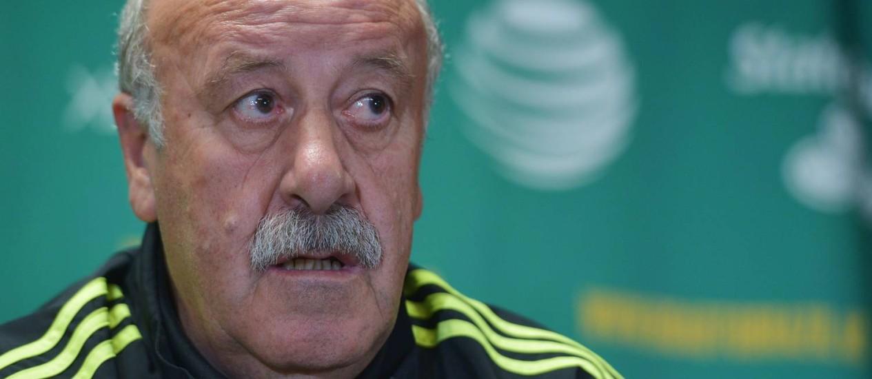 Vicente Del Bosque gostou da atuação da Espanha nos últimos amistosos Foto: Mandel Ngan/AFP