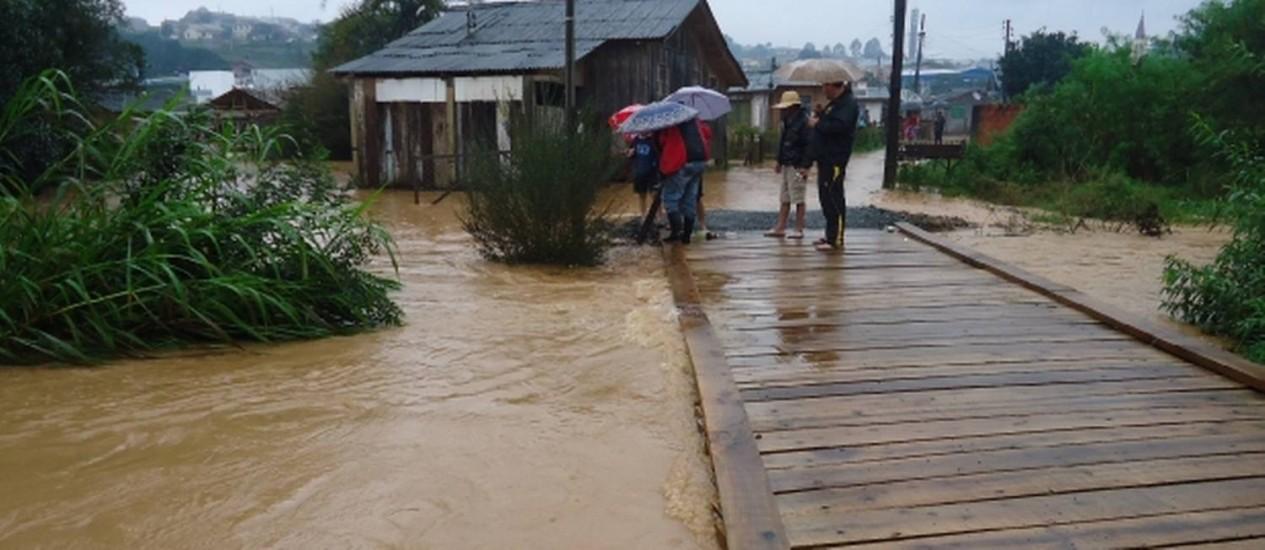 Santa Catarina tem 18 cidades afetadas pelas chuvas Foto: Defesa Civil