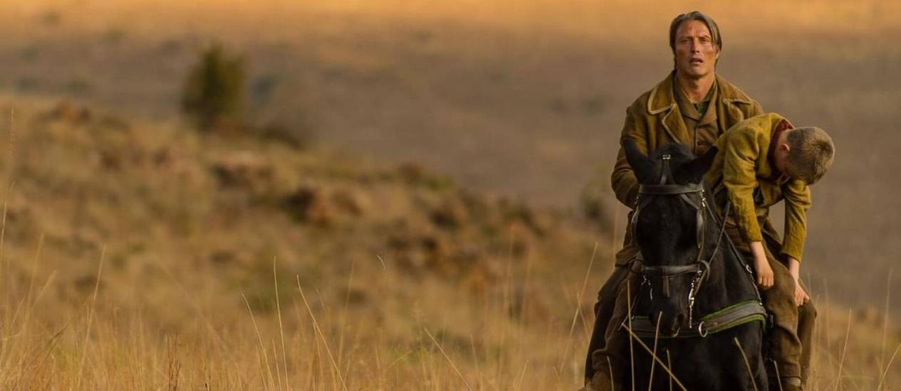 Fama galopante. Em cena como o cáuboi do filme 'The salvation', ainda inédito no Brasil, Mads Mikkelsen Foto: Divulgação