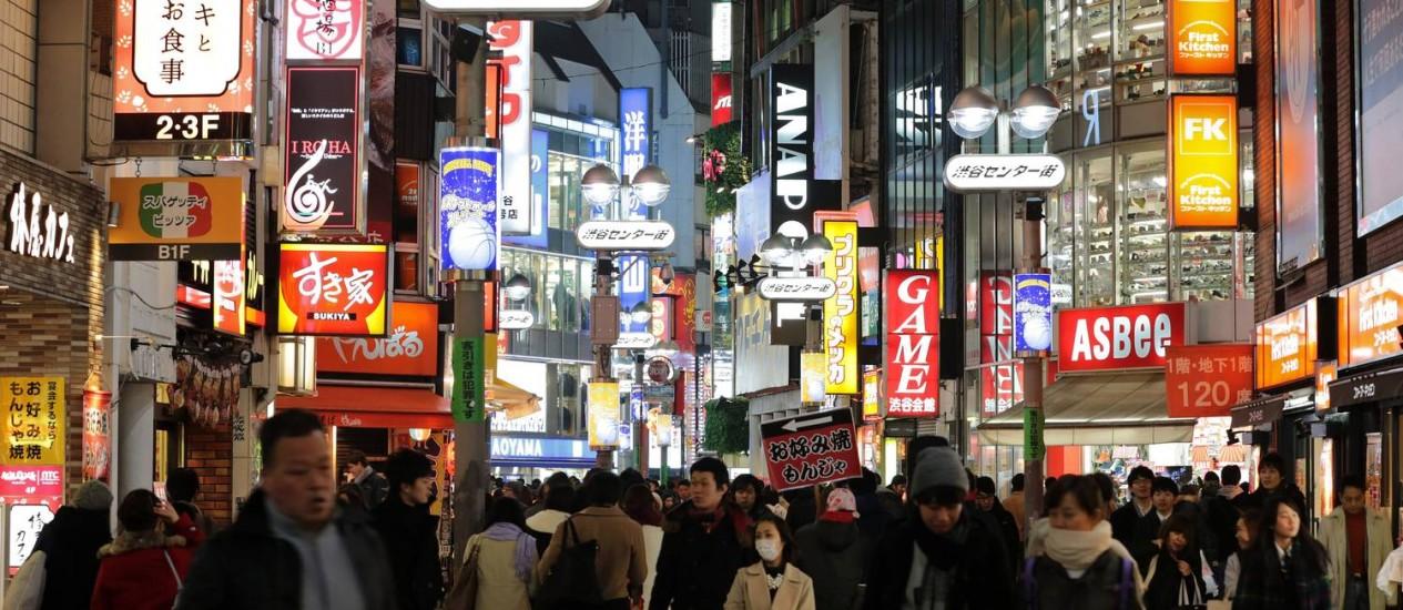 Em alta. Economia do Japão cresce acima das previsões no primeiro trimestre deste ano Foto: Yuriko Nakao/Bloomberg/16-2-2014