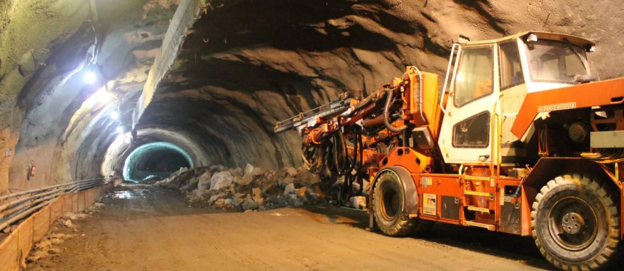 Obras a todo vapor: o Túnel do Binário, na Região Portuária, deve ser concluído no segundo semestre deste ano Foto: Divulgação/Prefeitura
