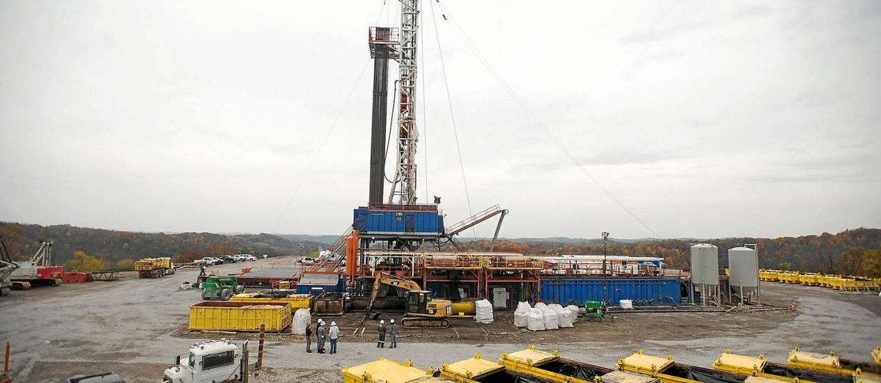 Plataforma de gás não convencional da EQT Corp. no estado americano da Pensilvânia: custo atraente Foto: Ty Wright / Ty Wright/Bloomberg News/31-10-2013
