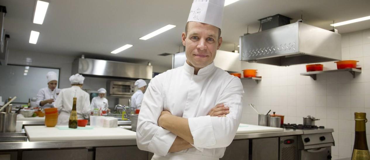 Segundo David, a cozinha na Copa seguirá padrões franceses Foto: Agência O Globo / Márcia Foletto