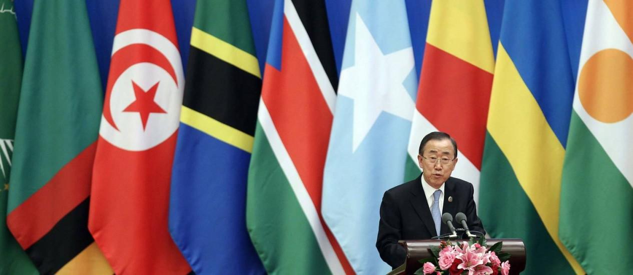 O secretário geral da Onu, Ban Ki-moon Foto: JASON LEE / REUTERS