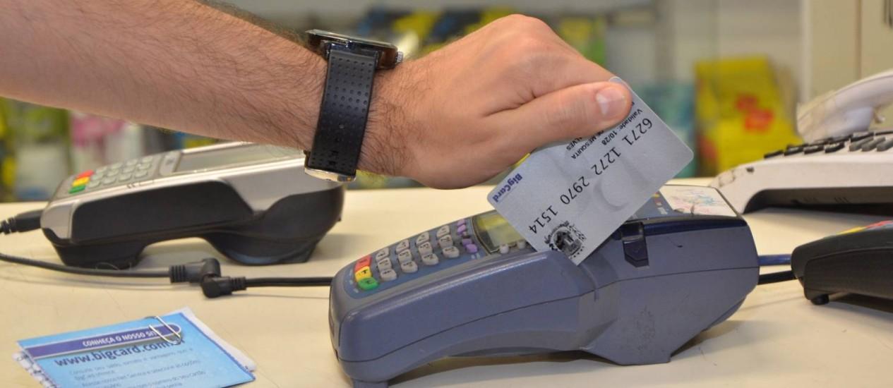 EN Rio de Janeiro (RJ) 29/11/2013 Cartão que os servidores de Mesquita podem usar para fazer compras no comércio local Foto: Divulgação Foto: Agência O Globo