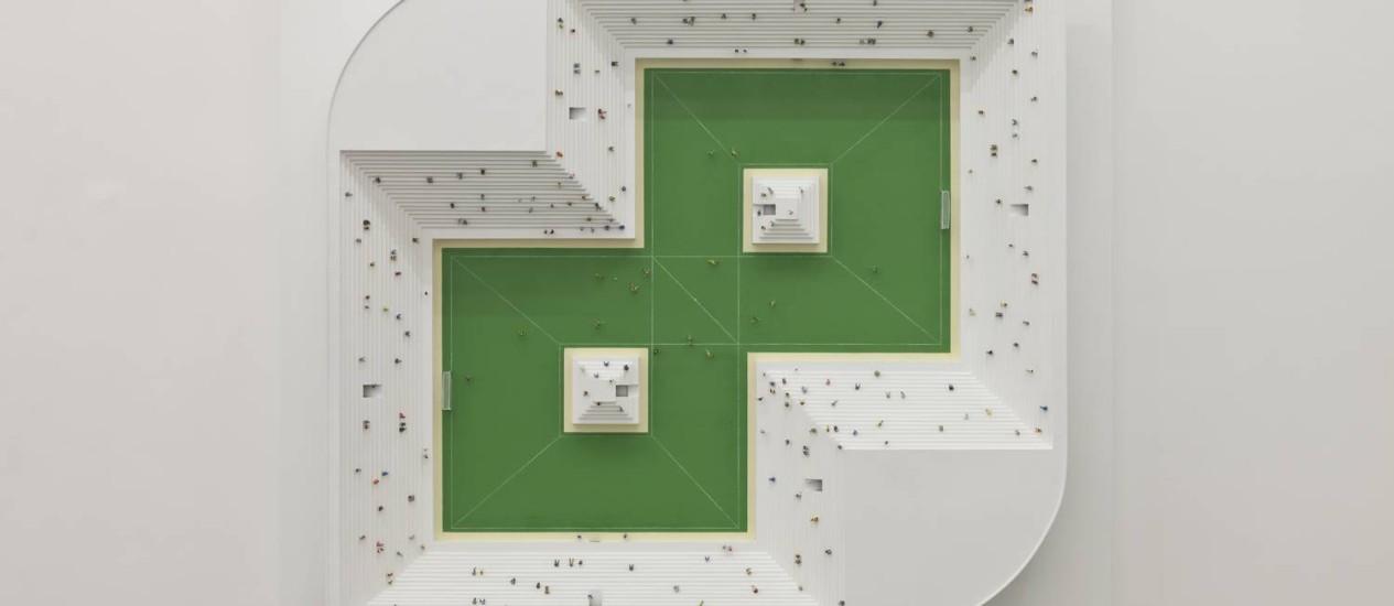 """""""Estádio III"""", de Eduardo Coimbra, na exposição """"Futebol no campo ampliado"""", em cartaz até 10 de agosto no Paço Imperial Foto: Divulgação"""