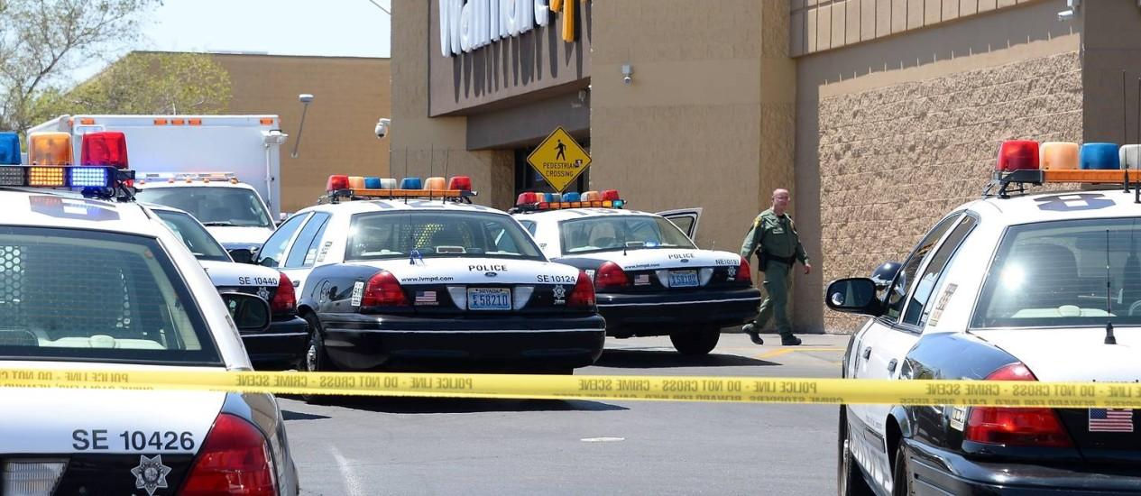 Loja do Walmart em Las Vegas, onde ocorreu um intensa troca de tiros Foto: AFP-08-06-2014