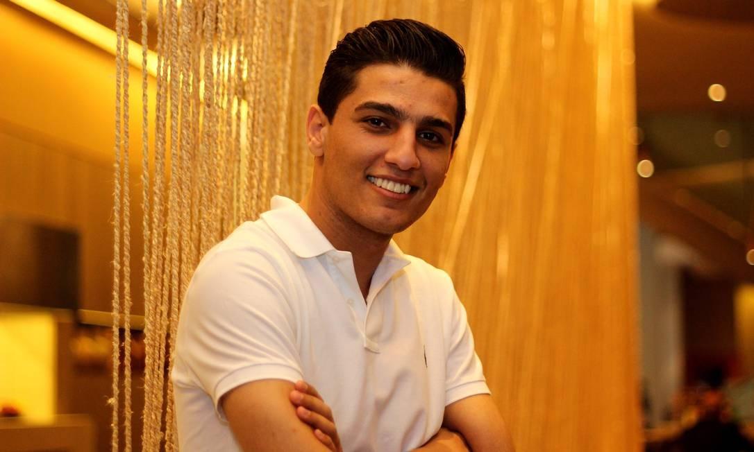 O cantor Mohammed Assaf, concede entrevista em São Paulo Foto: Fernando Donasci/O Globo