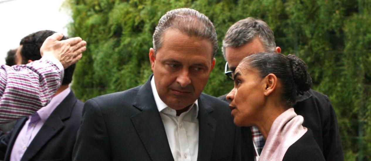 Entre aliados de Campos há quem aposte que Marina estaria apenas utilizando PSB como vitrine para 2018 Foto: Agência O Globo / Michel Filho/30-4-2014