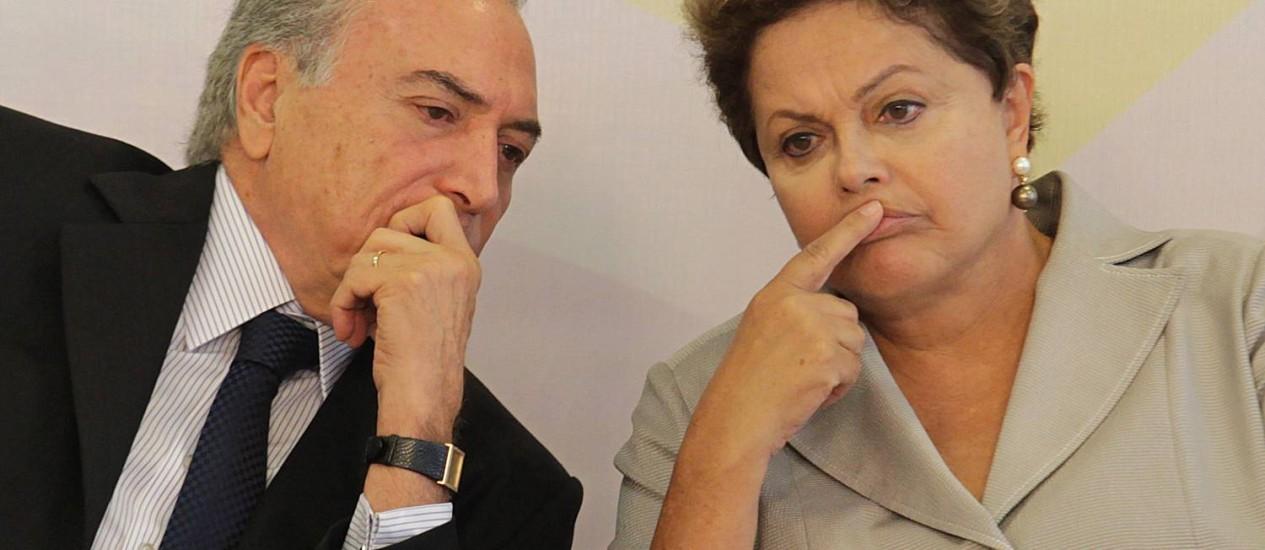 Michel Temer luta para manter aliança com PT Foto: Ailton de Freitas / Arquivo/Agência O Globo