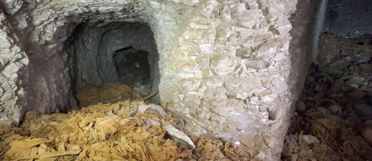 Tumba encontrada em Luxor por arqueólogos espanhois Foto: HO / AFP