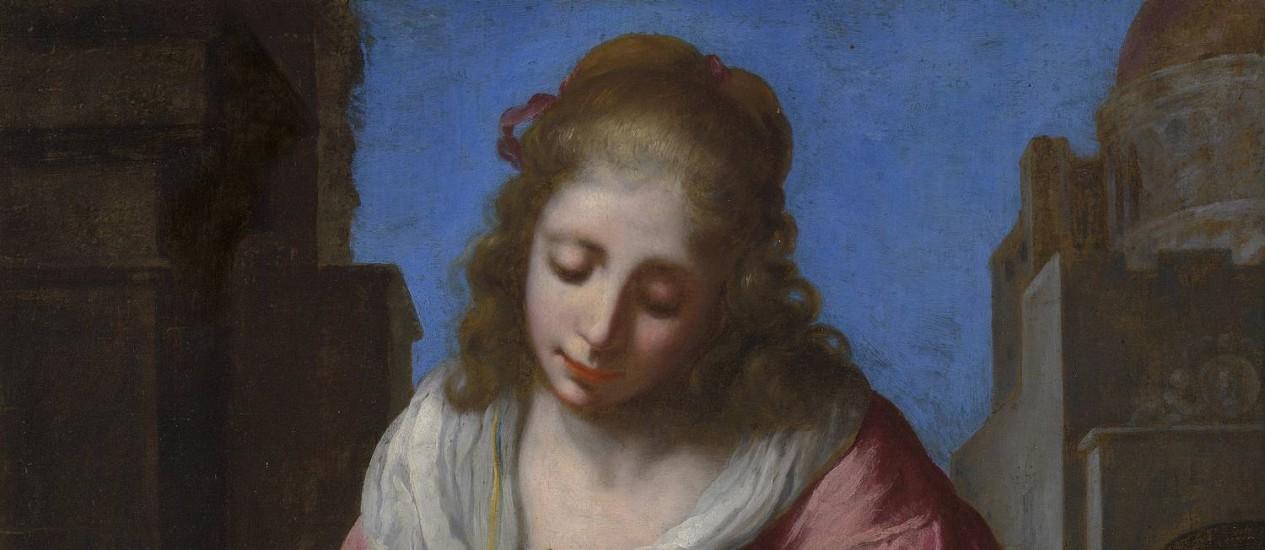 O quadro 'Santa Praxedes', do pintor holandês Vermeer Foto: Christie's / AP