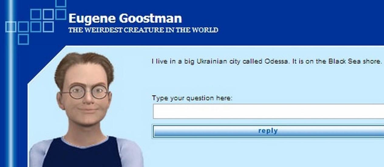 Eugene Goostman é um algoritmo que faz se passar por um garoto ucraniano de 13 anos Foto: Reprodução/ Princetonai.com
