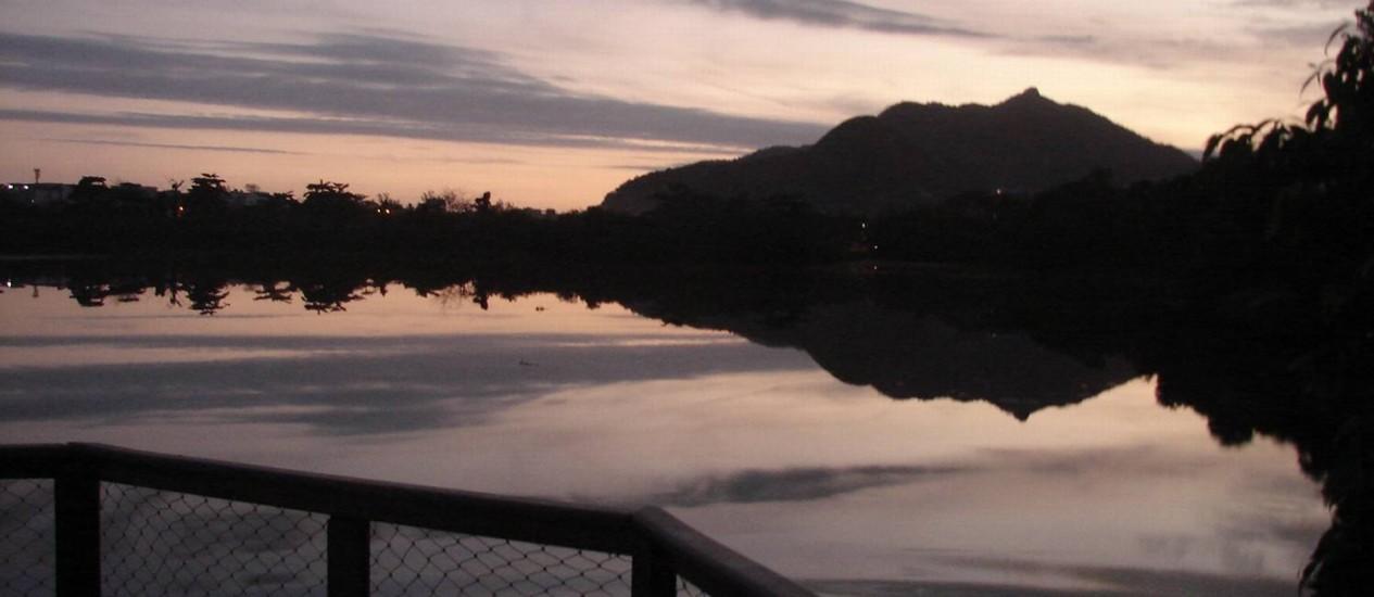 Vista do Parque Natural Chico Mendes durante o pôr do sol Foto: Divulgação