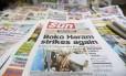 Jornal nigeriano traz a notícia do novo sequestro do Boko Haram