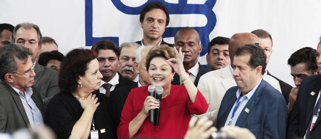 Presidente Dilma Rousseff participa da Convenção Nacional do Partido Democrático Trabalhista (PDT) Foto: Jorge William / O Globo