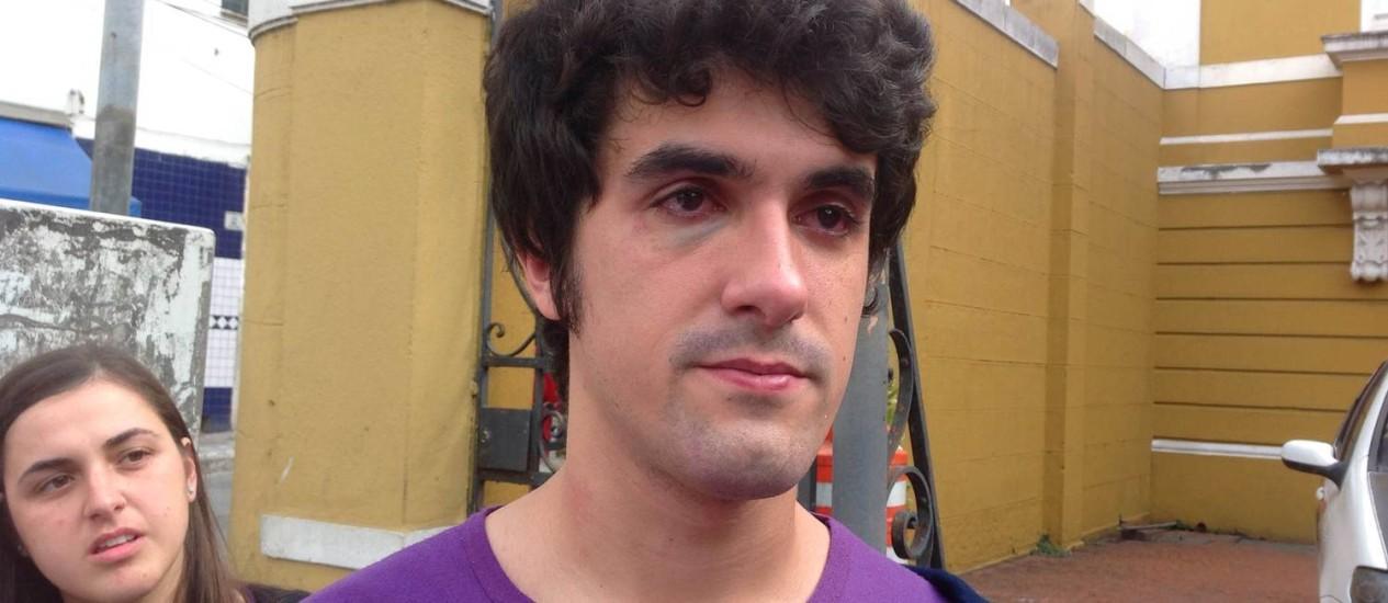 Murilo acusa PMs de agressão e tortura em SP Foto: Acervo Pessoal