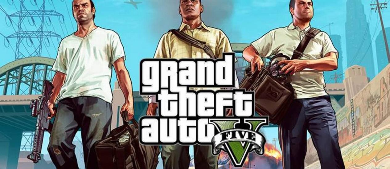 Lançado para Xbox 360 e PlayStation 3 em setembro do ano passado, GTA V arrecadou US$ 1 bilhão em apenas três dias Foto: Reprodução