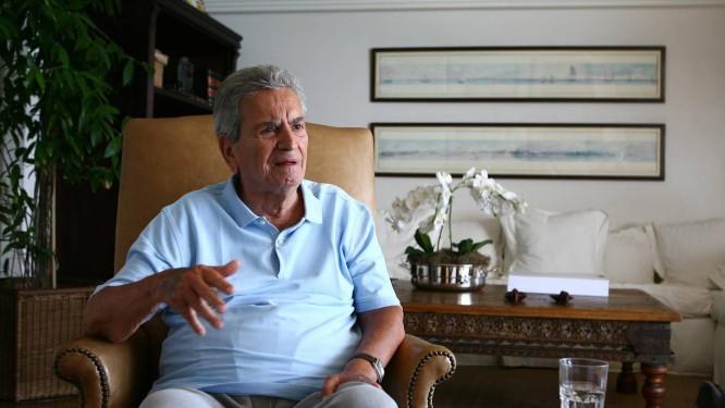 Marcello Alencar durante entrevista ao GLOBO em 2008 Foto: Marco Antônio Cavalcanti / Arquivo O Globo